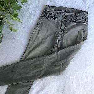 7 FAM The Skinny Jean in Light Grey — 26